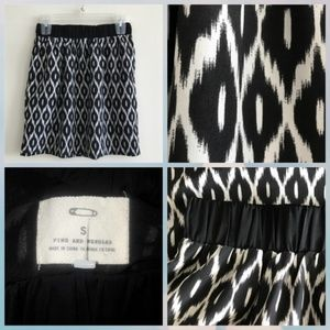Pins & Needles ikat print skirt